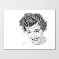 harry Canvas Prints featuring Harry by Kerri Dixon Art