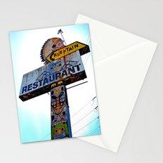 Totem pole sign Stationery Cards