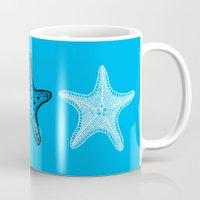 starfish Mugs featuring Starfish by Dana Martin