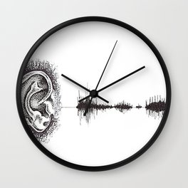 Hearing Damage Wall Clock