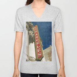 1931 Los Angeles Theatre Vintage Sign Unisex V-Neck