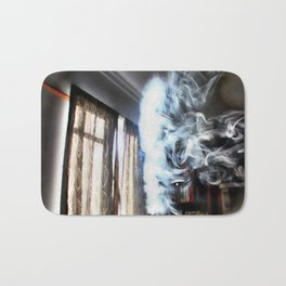 Painting with Smoke - Running Lady Bath Mat