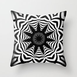 Deco Vortex Throw Pillow