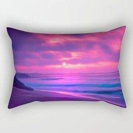 Rayleigh Scattering Beach | Painting  Rectangular Pillow