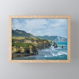 Three sisters elephant rock Tongaporutu Framed Mini Art Print