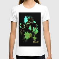 miami T-shirts featuring MIAMI by rauldesigns