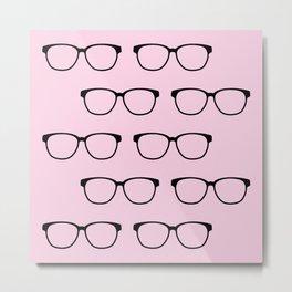 Hipster Eyeglasses Metal Print