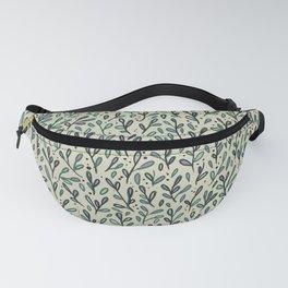 Leafy Lilac Pattern Fanny Pack