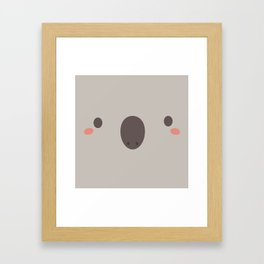 Kawaii Cute Koala Framed Art Print