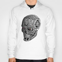 terminator Hoodies featuring Ornate Terminator by Adrian Dominguez