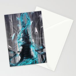 Blue Zen Temple Royal Stain Stationery Cards