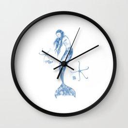 Sleeping Mermaid and Brittle stars Wall Clock