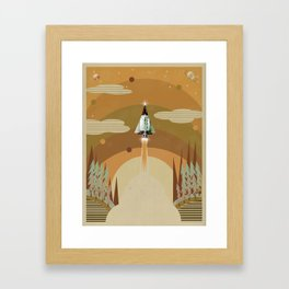 the adventure continues Framed Art Print