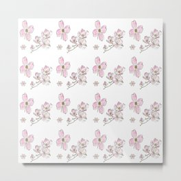 Dogwood Pattern Metal Print