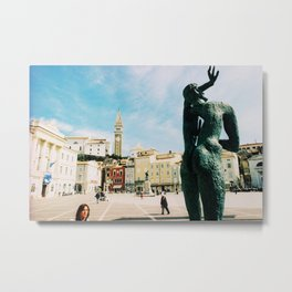 Piran, Mediterranean Sea, Photo Metal Print