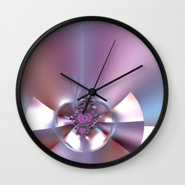 An abstract bow - sealed with kisses Wall Clock