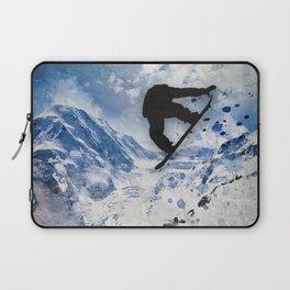 Snowboarder In Flight Laptop Sleeve