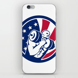 American Gym Circuit USA Flag Icon iPhone Skin