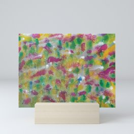 Bonnie Scottish Thistle Meadow Watercolour Painting Mini Art Print