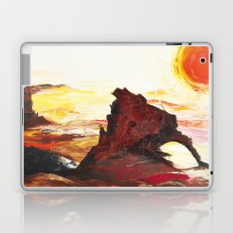 Landscape painting- The Indian - by LiliFlore Laptop & iPad Skin