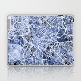 Rome Italy City Street Map Laptop & iPad Skin
