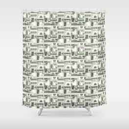 100 Dollar Motif Pattern Design Shower Curtain