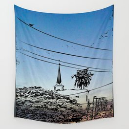 over smal trown the sunset Wall Tapestry