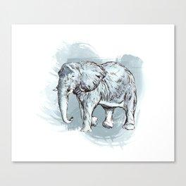 Watercolor Elephant Canvas Print
