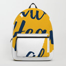 West Virginia Almost Heaven Map Gifts Backpack