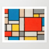 Lego: Piet Mondrian no.1 Art Print