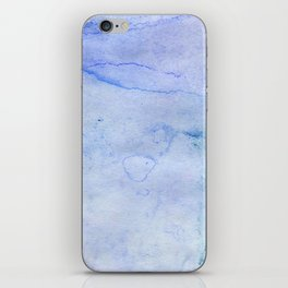 Hand painted blue green abstract watercolor pattern iPhone Skin