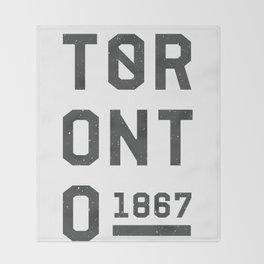 1867 TORONTO Throw Blanket