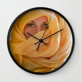 yellow Wall Clock