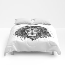 Black and White Lion Head Comforters