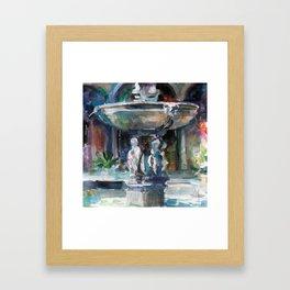 Spanish Fountain Framed Art Print