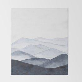 Watercolor Mountains Throw Blanket