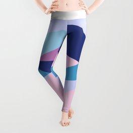 Geometrical pink teal lilac modern colorblock Leggings