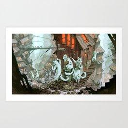 Zombie Catocalypse Art Print