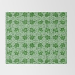 Irish Clover Throw Blanket
