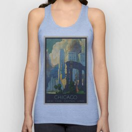Vintage poster - Chicago Unisex Tank Top