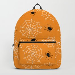Halloween Spider Web Seamless Pattern Backpack