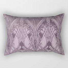 Lavender,art nouveau,vintage,beautiful,floral,belle époque,pattern,elegant, chic,modern,trendy Rectangular Pillow