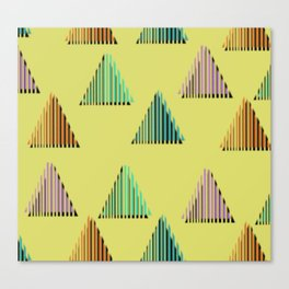 Triangles 80s Print Canvas Print