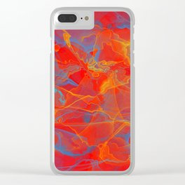 Rumble in The Red Clear iPhone Case