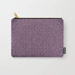Gold/Rose Gold Mandala on Lavender background Carry-All Pouch