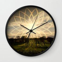 """Lotus Field"" Wall Clock"