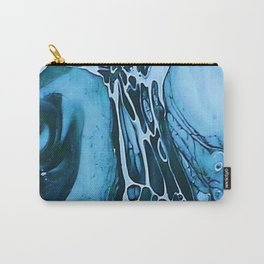 Tint Blot - Cracked Glass Blue Carry-All Pouch