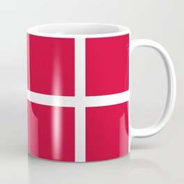abstraction from the flag of denmark Coffee Mug