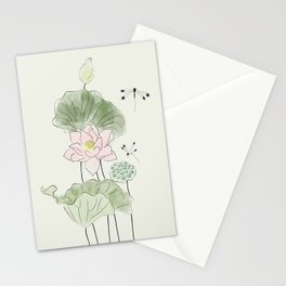 Pond of tranquility Stationery Cards