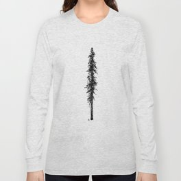 Love in the forest - a couple and their dog under a solitary, towering Douglas Fir tree Long Sleeve T-shirt